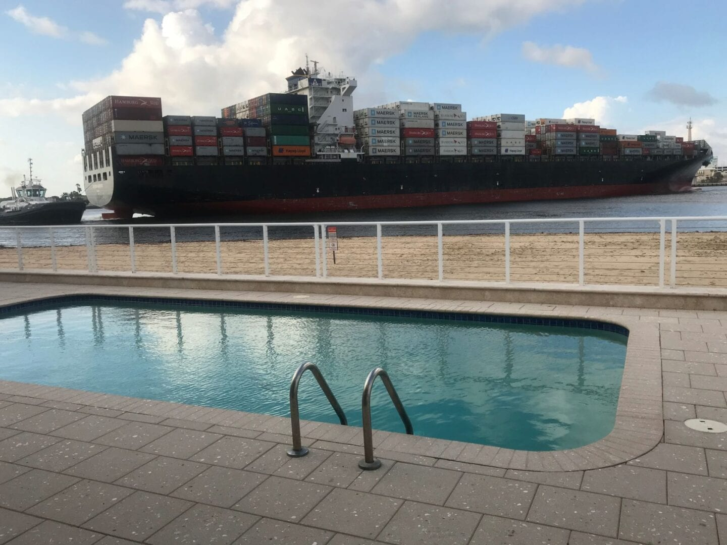 Pool Freighter Fort Lauderdale Florida