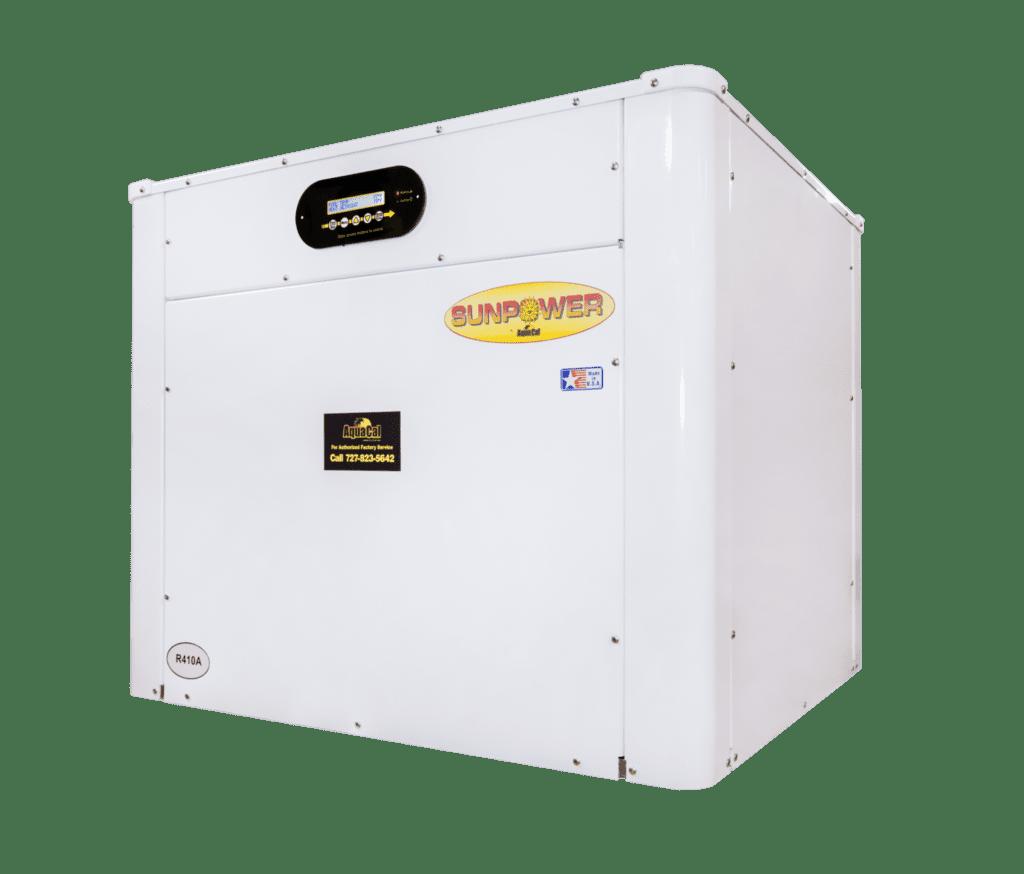 White AquaCal Sunpower heat pump
