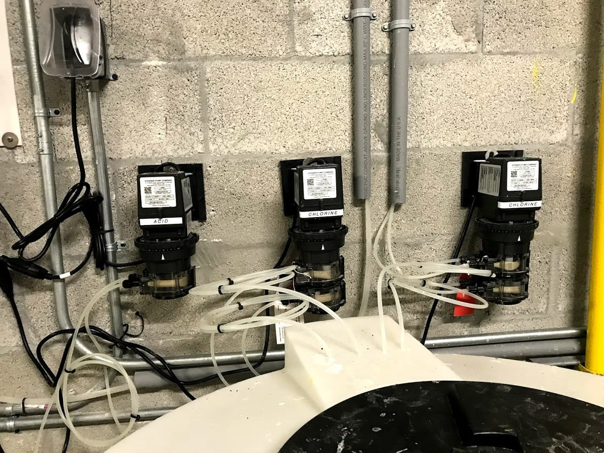 Automatic chemical dosing system for pool
