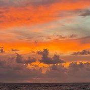Orange sunset skies (100 x 100)