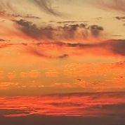 Orange sunset skies and clouds (100 x 100)